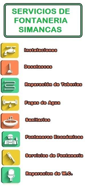 servicios de fontaneria en Simancas