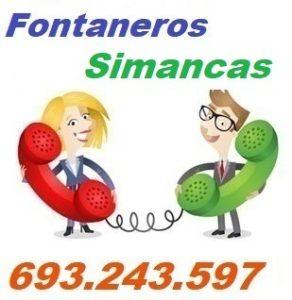 Telefono de la empresa fontaneros Simancas