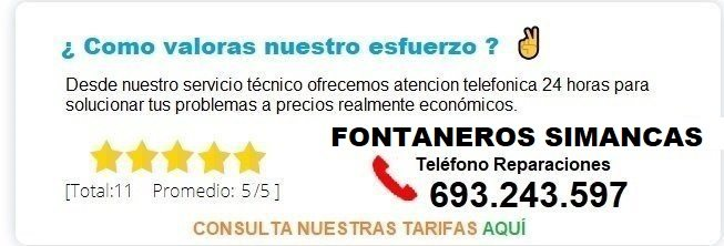 Fontanero Simancas precio
